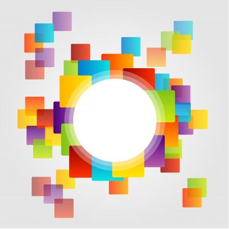 カラフルなボックスのデザイン要素