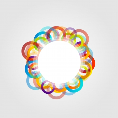 Design element with rings Illustration