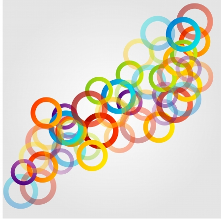 Colorful background with rings Vector