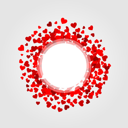 Design element with red hearts Stock Vector - 22243745