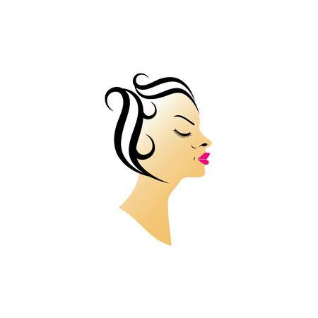 pouty: Vintage hairstyle Illustration