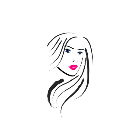pouty:  Abstract lady Illustration