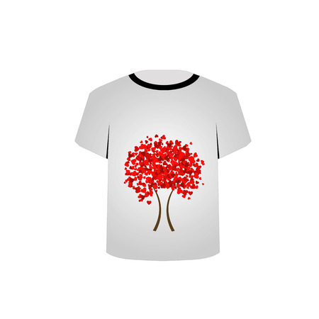 tees graphic tees t shirt printing:  T Shirt Template- Heart tree Illustration