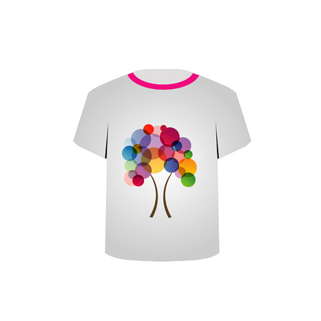 T Shirt Template- Abstract tree Stock Vector - 22719453