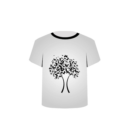 T Shirt Template- Butterfly tree Stock Vector - 22731594