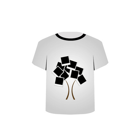 T Shirt Template- Polaroid tree Stock Vector - 22731596