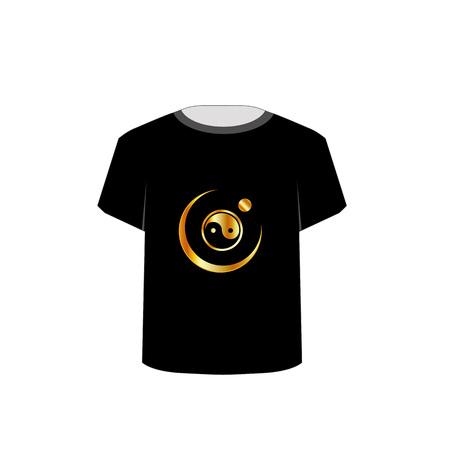 tees graphic tees t shirt printing: T Shirt Template- yin yang symbol