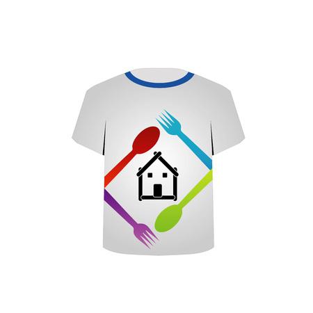 T-shirt amant Template-alimentaire Banque d'images - 22719429