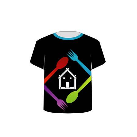 T-shirt amant Template-alimentaire Banque d'images - 22719430