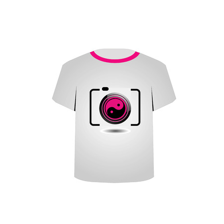 T Shirt Template- digital camera Stock Vector - 22719433
