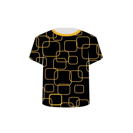 T Shirt Template- Printable tshirt graphic Stock Vector - 22719386