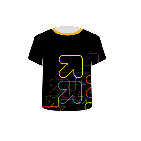 tees graphic tees t shirt printing: T Shirt Template- fractal arrows