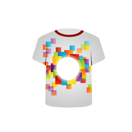 T Shirt Template- colorful pixels Stock Vector - 22719431
