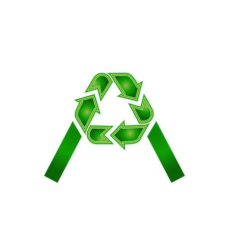 Alphabet A recycle symbol