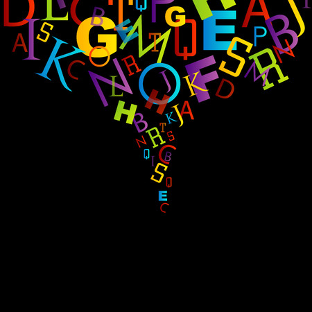 Background with colorful letters
