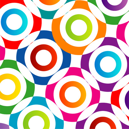 Background with colorful composition of circles Illustration