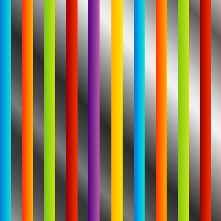 Colorful stripes on silver Stock Vector - 23378130