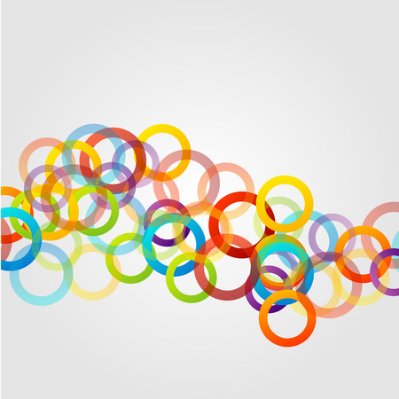 Background with colorful composition of circles Vector