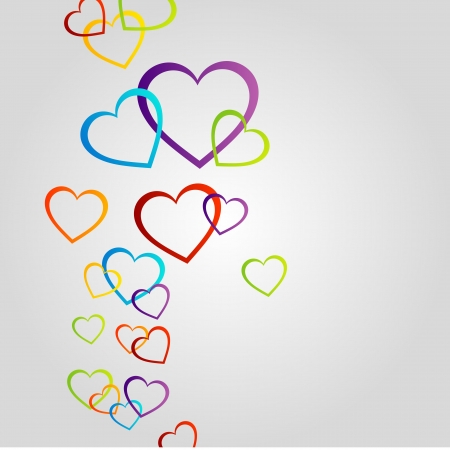 Background with colorful hearts Ilustracja