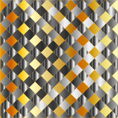 Gold and silver chequered background Stock Vector - 23378083