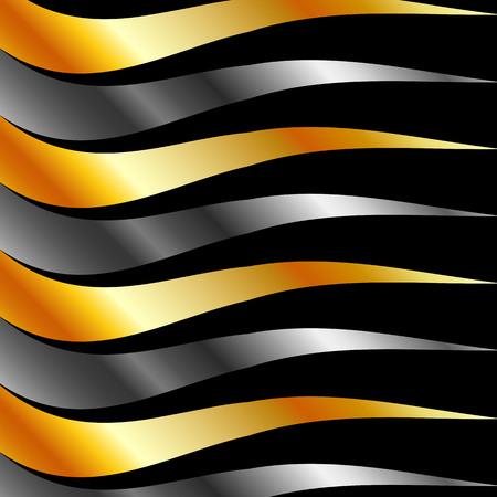 Metallic wave background Stock Vector - 23378091