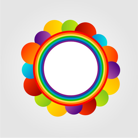 Design element with colorful circles Vector