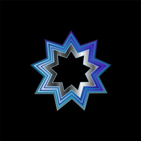 Bahai Religion Symbol- Nine pointed star Stock Vector - 23517398