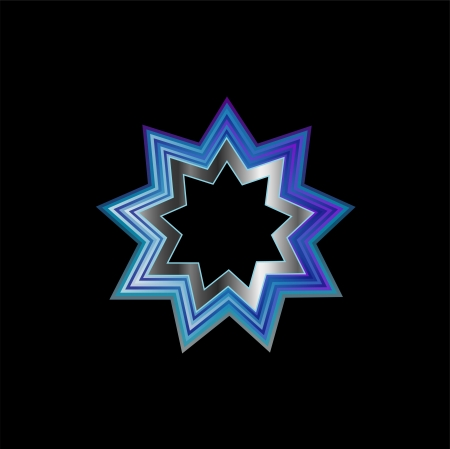pointed to: Bahai Religion Symbol- Nine pointed star