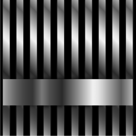 Steel bar background with space for text Vector