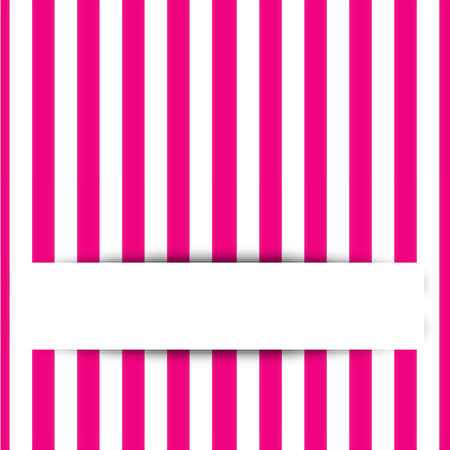 Pink stripe background with space for text Vector