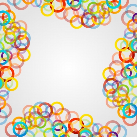 Background with colorful rings Vector