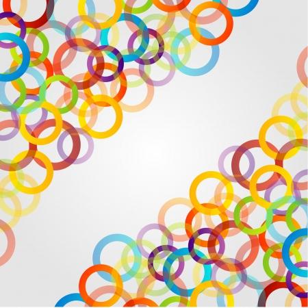 Achtergrond met kleurrijke ringen