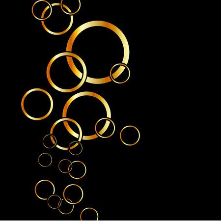 Achtergrond met gouden ringen