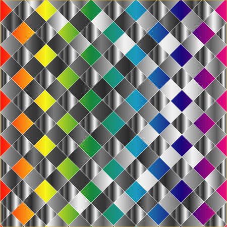 Colorful metal grid background Stock Vector - 23517501