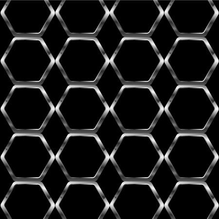 Silver honey cell background Ilustração