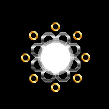 opt: Metallic design element