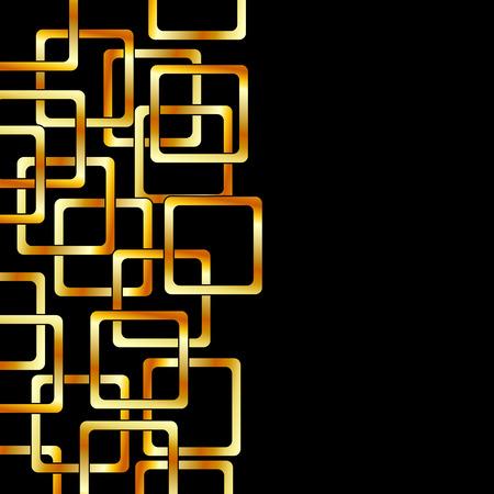 Achtergrond met gouden vierkanten Stock Illustratie