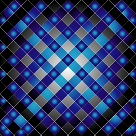 Blue grid background Vector