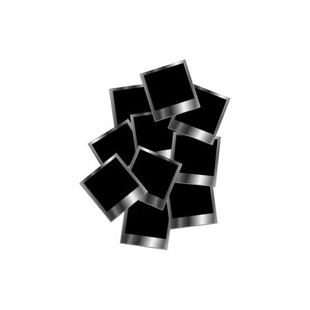 Silver polaroids Stock Vector - 23669929