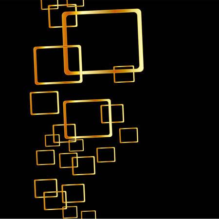 Achtergrond met gouden vierkantjes Stock Illustratie