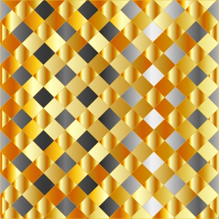 Gold and silver chequered background Stock Vector - 24146062