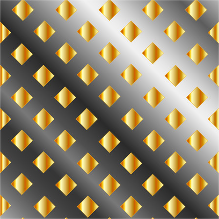 Gold and silver chequered background Stock Vector - 24146063