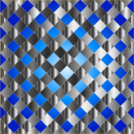 Blue metal grid background Stock Vector - 24146061