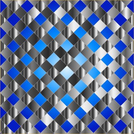Blue metal grid background Stock Vector - 24146061
