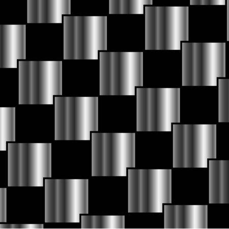 Metallic tegels achtergrond Stock Illustratie