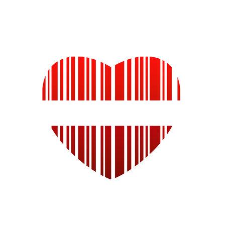 Valentine Barcode Standard-Bild - 24212486