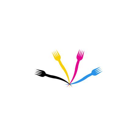 restaurateur: CMYK forks-