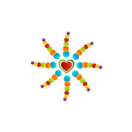 multicolored heart Ilustrace