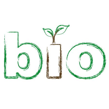 Bio 로고 스케치 일러스트