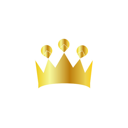 golden crown: Logotipo de la corona de oro Vectores
